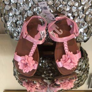 NWTs! Oshkosh pink sandal summer Velcro Sz 9